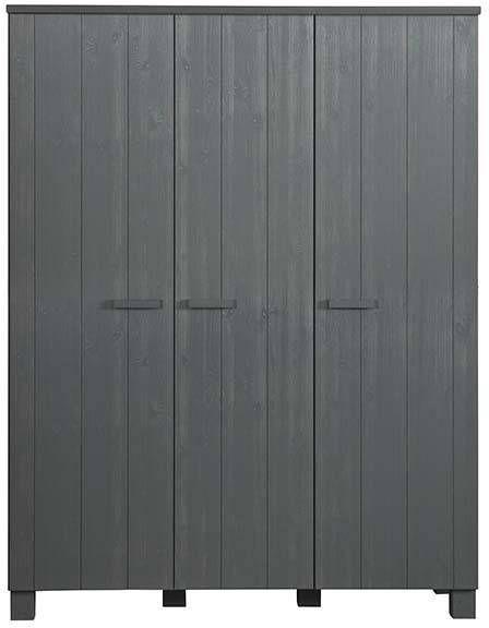 Woood Dennis 3 Deurs Kast Grenen Steel Grey Geborsteld Fsc
